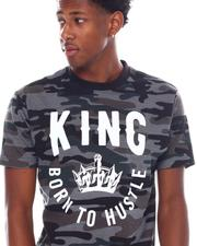Shirts - King Born To Hustle Camo Tee-2538624
