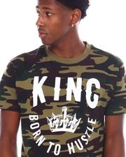 Shirts - King Born To Hustle Camo Tee-2538997