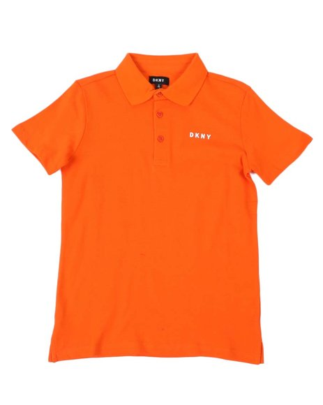 DKNY Jeans - DKNY Solid Chest Logo Pique Polo Shirt (8-20)
