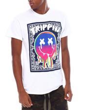 Shirts - Trippin Paisley  Print Smiley Tee-2539116