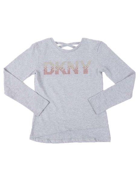 DKNY Jeans - Ombre Logo Long Sleeve Tee (4-6X)