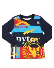 Tops - Oversized All Over Print Long Sleeve T-Shirt (2T-4T)-2538757