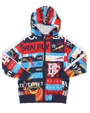 Outerwear - Allover Print Nylon Hooded Jacket (8-20)-2539263