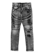 Sizes 8-20 - Big Kids - Moto Distressed Jeans (8-20)-2538013
