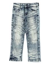 Arcade Styles - Stretch Denim Moto Jeans W/Embossed Gel Injection (4-7)-2538070