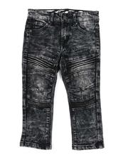 Arcade Styles - Heavy Blasted Stretch Denim Moto Jeans (2T-4T)-2538082