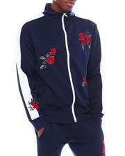 Outerwear - Flower Embroidered Track Jacket-2538829