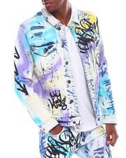 SMOKE RISE - Graffiti Spraypainted Jacket-2539584