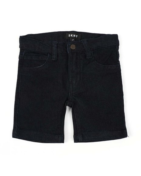 DKNY Jeans - Cotton Woven Stretch Denim Shorts (2T-4T)