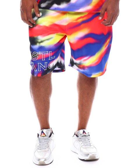 Hustle Gang - Vibrant Tie Dye Noir Shorts (B&T)