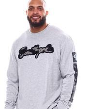 Big & Tall - Camo Chenille Patch Long Sleeve T-Shirt (B&T)-2540354