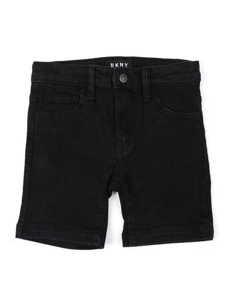 DKNY Jeans - Cotton Woven Stretch Denim Shorts (2T-4T)