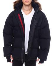 Golden Peak Puffer coat w Faux Fur Trim