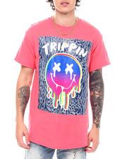 Shirts - Trippin Animal Print Smiley Tee-2538960