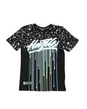 Boys - Hustle Drip Splatter Print T-Shirt (8-20)-2541433