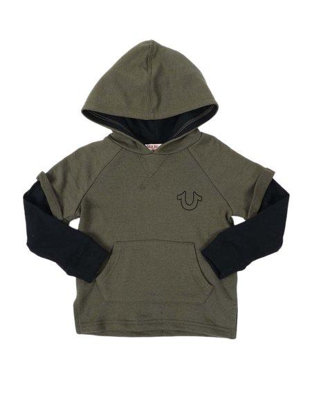 True Religion - 2Fer Kangaroo Pocket Hoodie (2T-4T)