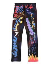 Boys - Graffiti Print Jeans (8-20)-2541349