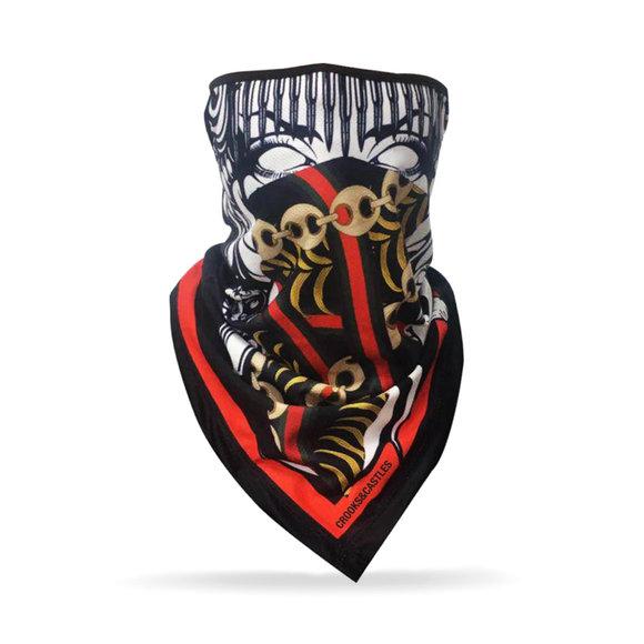 Crooks & Castles - Medusa Chain Bandana Face Mask (Unisex)