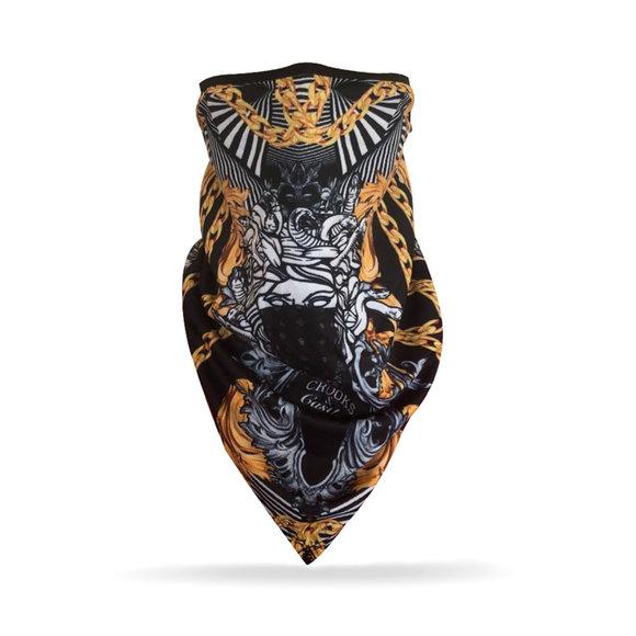 Crooks & Castles - Medusa Gold Bandana Face Mask (Unisex)