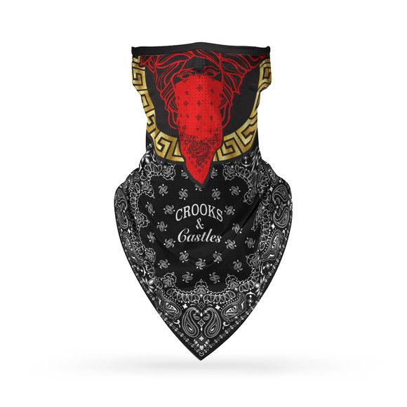 Crooks & Castles - Red Medusa Bandana Face Mask (Unisex)