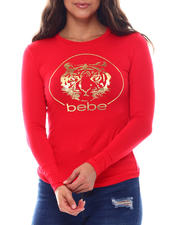 Women - Bebe long sleeve Foil Screen Print-2540417