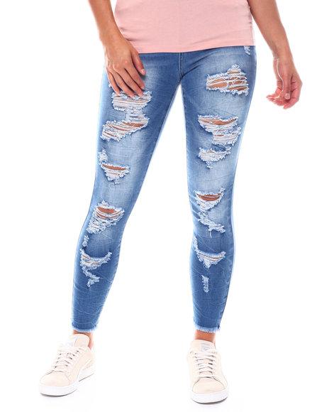 Fashion Lab - Ripped Bleach Splatter High Rise Skinny Jean