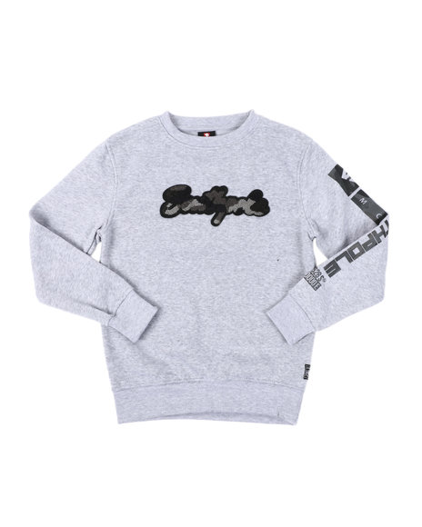 Southpole - Camo Chenille Crew Neck Sweatshirt (8-20)