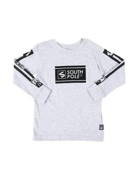 Southpole - Thick Gel Logo Long Sleeve Tee (4-7)