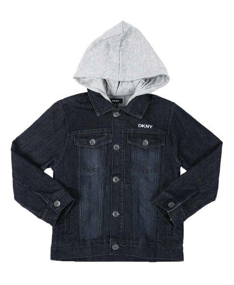 DKNY Jeans - Denim Jacket W/ French Terry Hood (8-20)