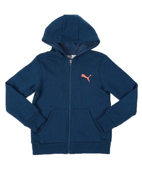 Puma - Speed Pack Fleece Color Block Zip Up Hoodie (8-20)
