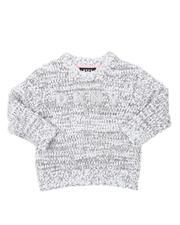 Girls - Pullover Boucle Eyelash Sweater (4-6X)-2541361