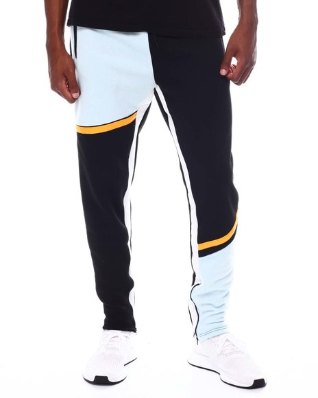 Buyers Picks - Color Block Bar Stripe side Tape Sweatpants