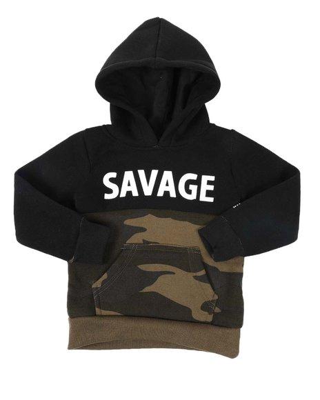 Phat Farm - Savage Camo Color Block Fleece Pullover Hoodie (2T-4T)