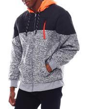 Men - Color Block Sherpa Lined Hoodie-2542723
