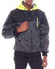 Men - Color Block Sherpa Lined Hoodie-2542732