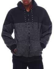Men - Color Block Sherpa Lined Hoodie-2542737