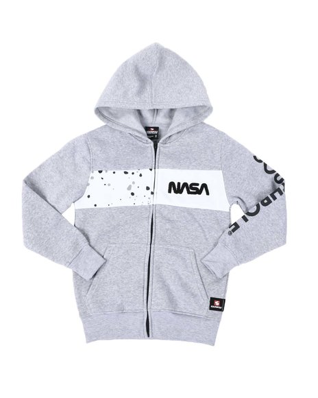 Southpole - Southpole x NASA Chenille Patch Full Zip Hoodie (8-20)