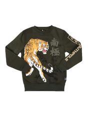 Boys - Rhinestone Fleece Crew Neck Pullover Sweatshirt (8-20)-2541016