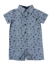 Boys - Woven Cotton Romper (Infant)-2541853