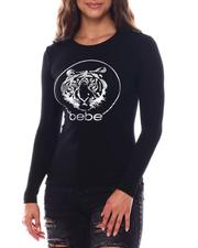 Women - Bebe long sleeve Foil Screen Print-2540427