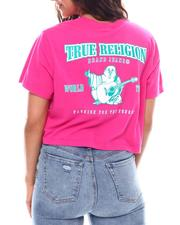 True Religion - Puff Buddha Cropped Tee-2540549
