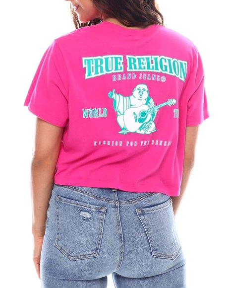 True Religion - Puff Buddha Cropped Tee