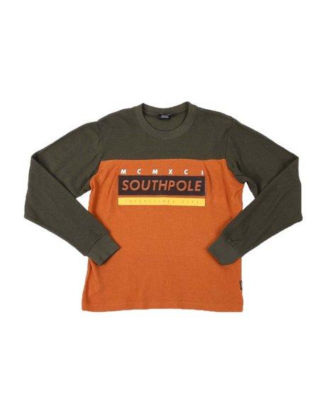 Southpole - Gel Print Long Sleeve Thermal Shirt (8-20)