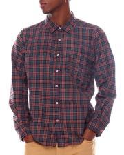 Buyers Picks - Maroon Windowpane Plaid Ls Shirt-2542792