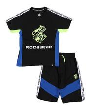 Rocawear - 2 Pc Color Block T-Shirt & Shorts Set (8-18)-2542969