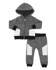 Boys - 2 Pc Moto Zip Hoodie & Jogger Pants Set (Infant)-2542974