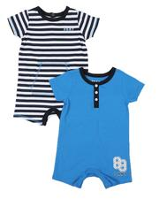 Boys - 2 Pack Jersey Rompers Set (Infant)-2541816