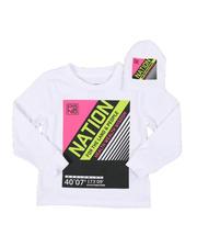 Boys - 2 Pc Parish Nation Graphic Long Sleeve T-Shirt & Beanie Set (2T-4T)-2542017