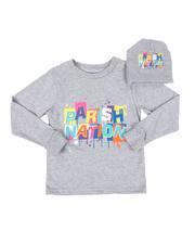 Boys - 2 Pc Parish Nation Drip Graphic Long Sleeve T-Shirt & Beanie Set (4-7)-2542532
