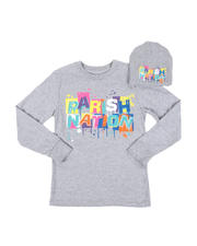 Boys - 2 Pc Parish Nation Drip Graphic Long Sleeve T-Shirt & Beanie Set (8-20)-2542565